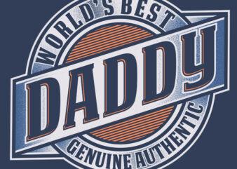 WORLD'S BEST DADDY graphic t-shirt design