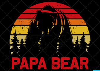 Father day t shirt design, father day svg design, father day craft design, Papa Bear shirt design