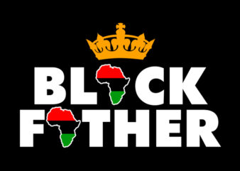 black father print ready t shirt design