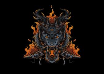 Tiger: Triangle Tshirt Design