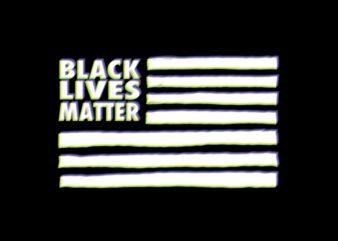 Black Lives Matter Flag RGB buy t shirt design artwork
