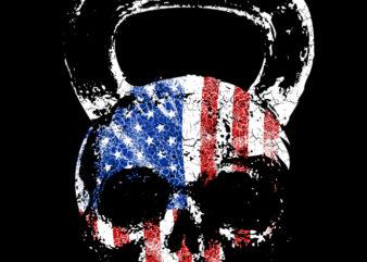U.S Kettle bell t shirt design template