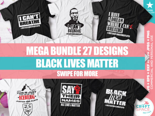 Bundle Black Lives Matter, Justice for George Floyd I can't breathe, SVG DXF PDF Cutting File for Cricut Explore Silhouette Cameo Studio t shirt template
