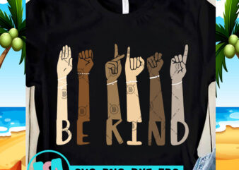 Be Kind Color SVG, Skin Color SVG, Funny SVG, Quote SVG t shirt design for purchase