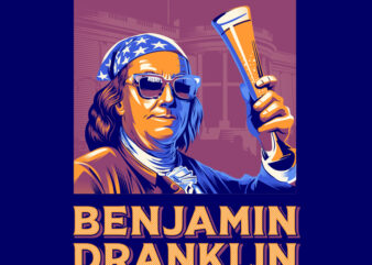 Benjamin Dranklin t shirt design to buy