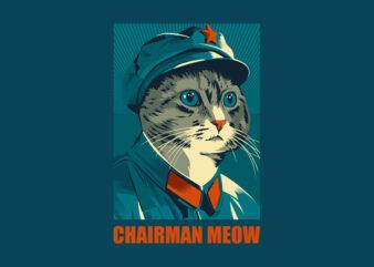 CHAIRMAN MEOW graphic t-shirt design