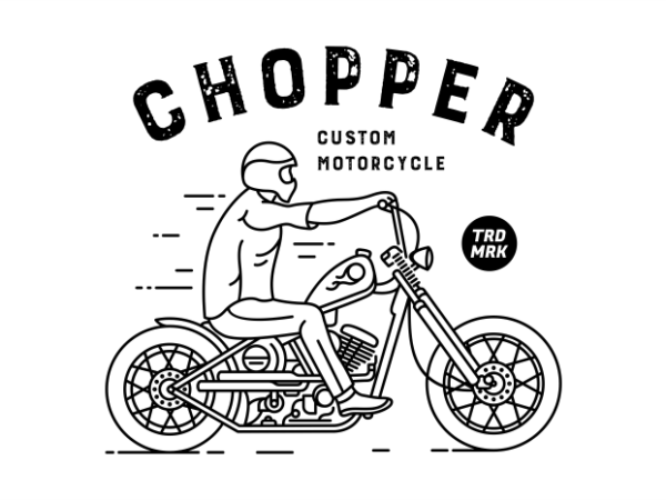Chopper 1 t shirt design template