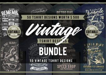 50 Vintage Tshirt Designs Bundle #3_1