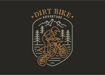 Dirt Bike 1 t shirt design for purchase