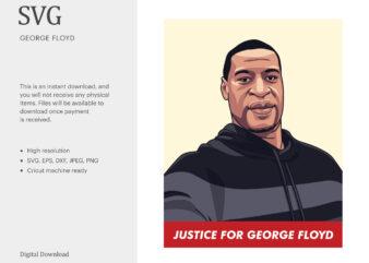George Floyd SVG, Black History SVG, Black Lives Matter SVG, T-shirt Design, I Can't Breathe, Protest t-shirt design for commercial use