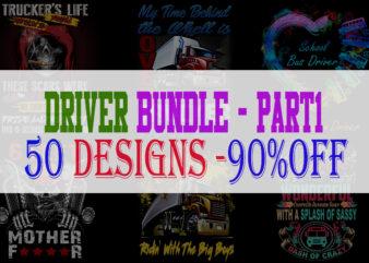 DRIVER BUNDLE PART 1 – 50 Designs -90% OFF