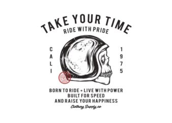 TAKE YOUR TIME t shirt design