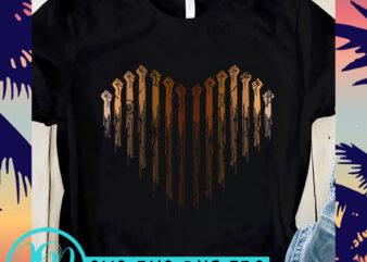 Fist Heart SVG, George Floyd SVG, Expression SVG, Black Lives Matter SVG t shirt design for sale