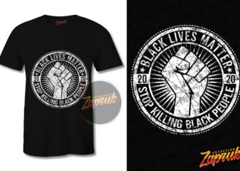 Black Lives Matter tshirt design tee