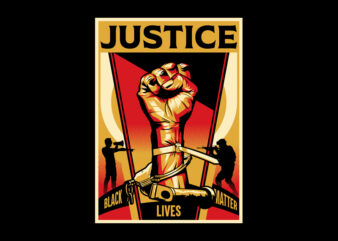 JUSTICE shirt design png buy t shirt design for commercial use
