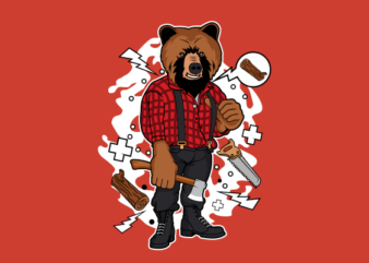 Lumber Bear buy t shirt design for commercial use