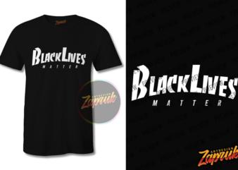 Black Lives Matter #5 graphic t-shirt design tee