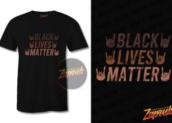 Black Lives Matter #7 graphic t-shirt design tee