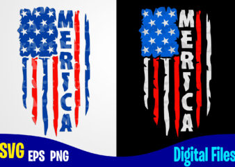 Merica svg, 4th july, 4th of July svg, USA Flag, Stars and Stripes, Patriotic, America, Independence Day design svg eps, png files for cutting machines and print t shirt designs for sale t-shirt design png