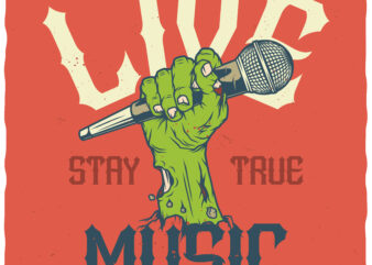 Live Music buy t shirt design for commercial use