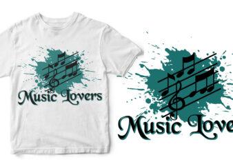 music lovers buy t shirt design