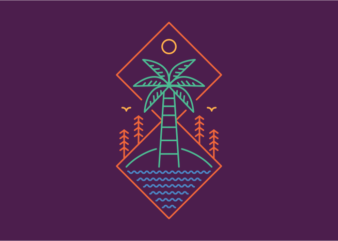 Palm and Outdoor 2 t shirt design for sale