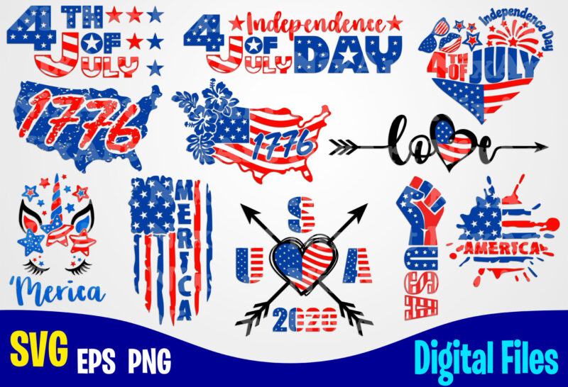 11 designs bundle 4th july, Independence day, 4th of July svg, USA svg, USA Flag, Stars and Stripes, Patriotic, America, Independence Day design svg eps, png files for cutting machines and print t shirt designs for sale t-shirt design png