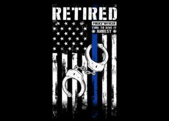 Retired Police Officer graphic t-shirt design