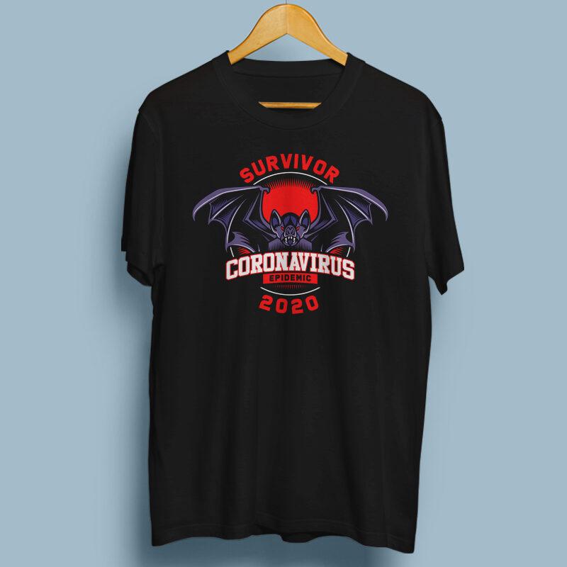 37 BEST SELLING CORONA VIRUS T-SHIRT DESIGN