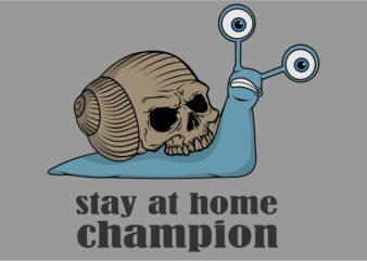 Snail Skull tshirt design