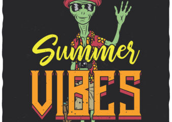Summer Vibes t-shirt design for commercial use
