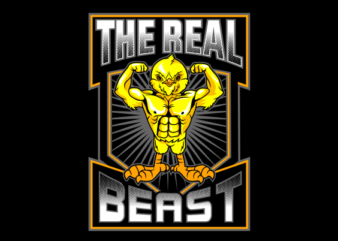THE REAL BEAST t-shirt design for sale
