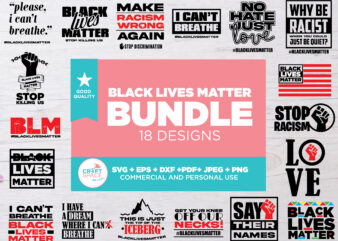 Bundle Black Lives Matter, for Cutting Machine or Transfer