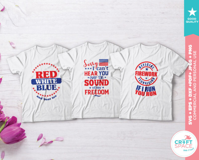 Independence Day 4th of July Bundle, svg, dxf, pdf , eps, png, jpeg. Cutting File for Cricut Explore Silhouette Cameo Studio buy tshirt design