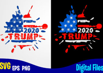 Trump, Trump svg, 4th july, American Election 2020, USA Flag, Stars and Stripes, Patriotic, America, American Election 2020 design svg eps, png files for cutting machines and print t shirt designs for sale t-shirt design png