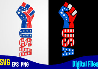 USA svg, 4th july, 4th of July svg, Fist , USA Flag, Stars and Stripes, Patriotic, America, Independence Day design svg eps, png files for cutting machines and print t shirt designs for sale t-shirt design png
