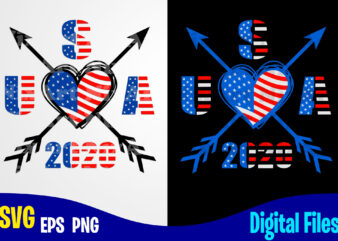 Arrows, Love, USA svg, 4th of July svg, USA Flag, Stars and Stripes, Patriotic, America, Independence Day design svg eps, png files for cutting machines and print t shirt designs for sale t-shirt design png