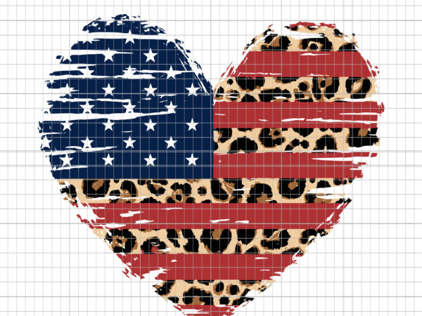 American Flag, American Flag PNG, American Flag Heart, American Flag Heart svg, Leopard Print, 4th of July, Heart Flag Distressed, American Flag Heart 4th of July, 4th of July svg, heart 4th of July svg, heart 4th of July t-shirt design png