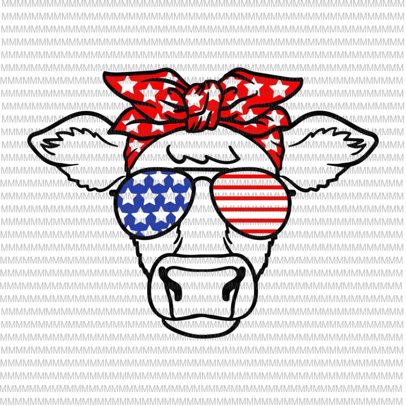 4th Of July Svg Cow Svg Independence Day Svg American Flag Svg Patriotic 4th Of July