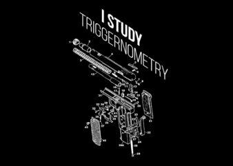 i study triggernometry2 ready made tshirt design