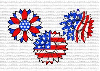 4th of July svg, Sunflower svg, Independence Day svg, American flag svg, patriotic, Svg Files for Cricut, cut file, dxf files for laser, png shirt design png buy t shirt design