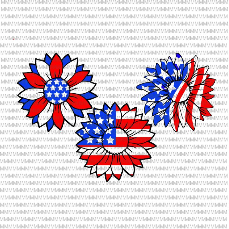 4th Of July Svg Sunflower Svg Independence Day Svg American Flag Svg Patriotic Svg Files For Cricut Cut File Dxf Files For Laser Png Shirt Design Png Buy T Shirt Design