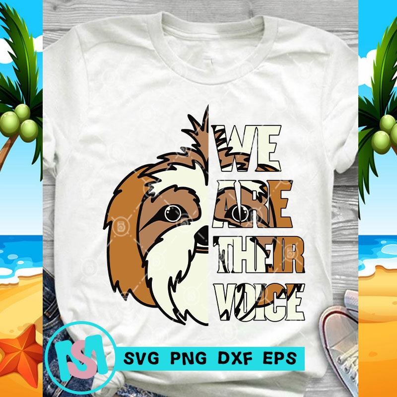 We Are Their Voice Shih Tzu SVG, Animals SVG, Pet SVG, Dog SVG