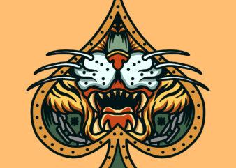 ace tiger t shirt design template