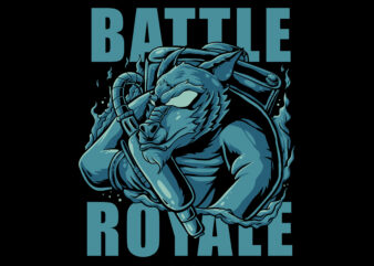 Battle royale t-shirt design for commercial use