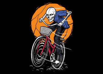 Go Ride The Bike Illustration t shirt design to buy