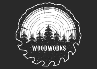 Woodworks Illustration ready made tshirt design