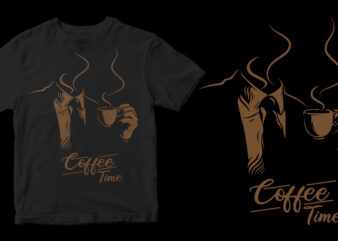 coffee time graphic t-shirt design