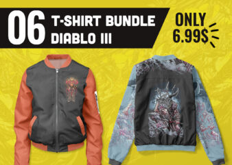 6 Design Best Bundle T shirt – Jacket Diablo lll Limited