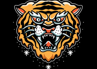 tiger t shirt design for purchase